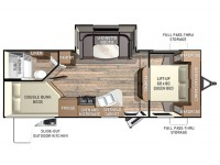 2015 Fun Finder 242BDS Floor Plan