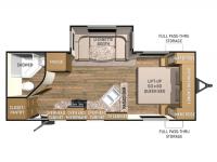 2015 Shadow Cruiser 225RBS Floor Plan