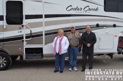Bobby of Des Moines with their Cedar Creek 34RE