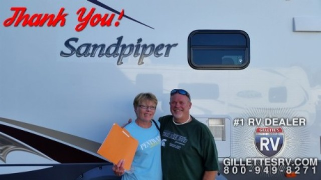 Roy of Twin Lake, MI with their Sandpiper 346RETS
