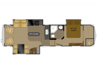 2012 Bighorn 3070RL Floor Plan