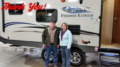 Sharon of St. Johns with their Freedom Express 29SE