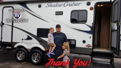 Jeremy of Twin Lake, MI with their Shadow Cruiser 312FBS