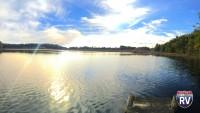 Sleepy Hollow State Park lake view at sunset