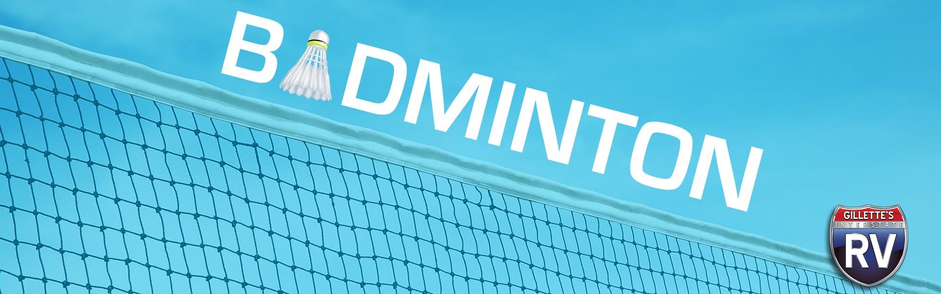 Badminton - Birdie flying over during game