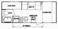 2012 Skyline 186 Floor Plan