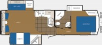 2013 Crusader 290RLT Floor Plan