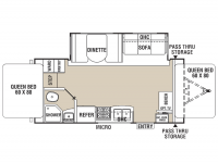 2015 Freedom Express 22DSX Floor Plan