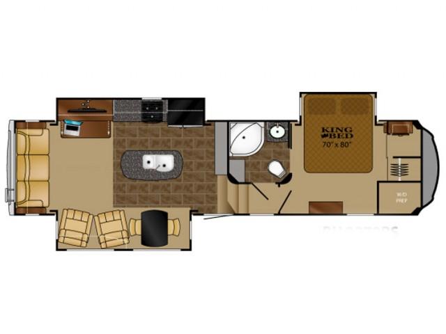 2016 Bighorn 3270rs Floor Plan 1