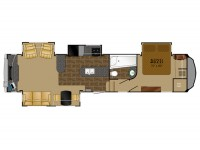 2014 Bighorn 3610RE Floor Plan