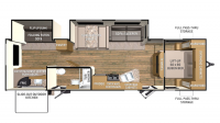 2015 Shadow Cruiser 313BHS Floor Plan