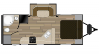 2017 Shadow Cruiser 225RBS Floor Plan