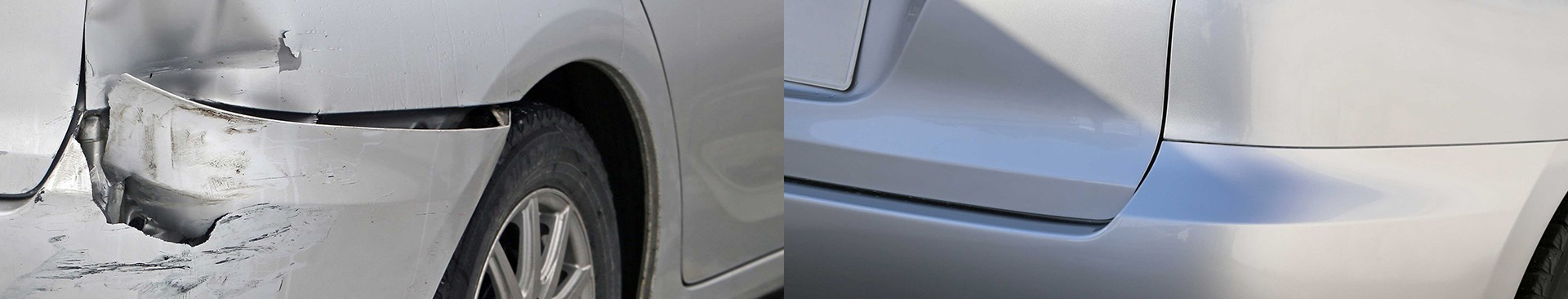 before and after dent