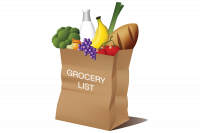 grocery list button