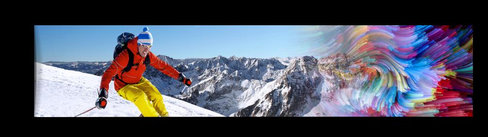 skiing on mountain
