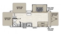 2018 Freedom Express 23TQX Floor Plan