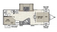 2018 Freedom Express 257BHS Floor Plan