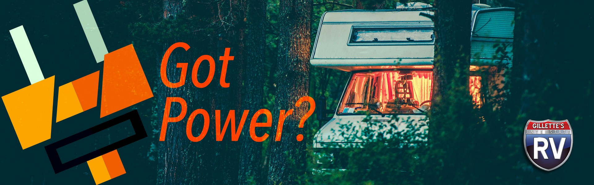 Got Power? Motorhome in the wilderness boondocking with electric plug