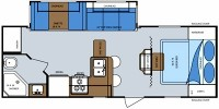 2008 Emerald Bay 26QBSS Floor Plan