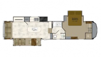2017 Bighorn 3890SS Floor Plan