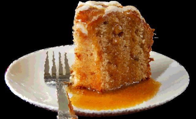 Gluten-free caramel drizzle apple cake