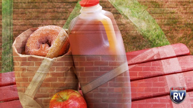 Apple Cider And Doughnuts At The Cider Mill