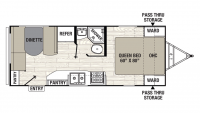 2019 Freedom Express 204RD Floor Plan