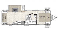 2019 Freedom Express 279RLDS Floor Plan
