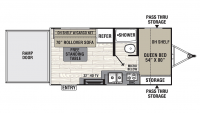2019 Freedom Express Special Edition 17BLSE Floor Plan