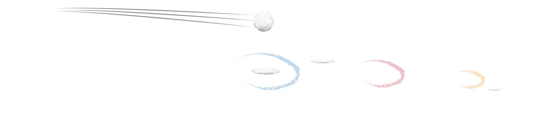 Wintertime obstacle course: Snow Toss