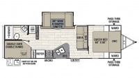 2019 Freedom Express 275BHS Floor Plan