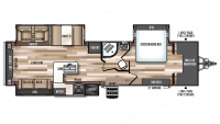 2017 Salem Hemisphere 326RL Floor Plan