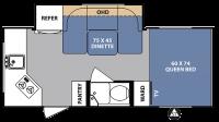 2017 R-Pod 179 Floor Plan
