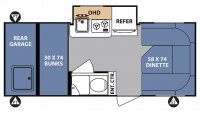 2017 R-Pod 182G Floor Plan