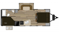 2018 Shadow Cruiser 240BHS Floor Plan