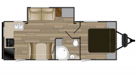 2018 Shadow Cruiser 251RKS Floor Plan