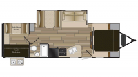2018 Shadow Cruiser 280QBS Floor Plan