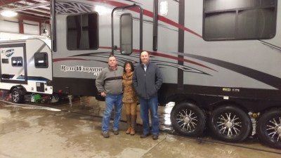 Jim Duff at Gillettes Interstate RV with their Road Warrior RW425