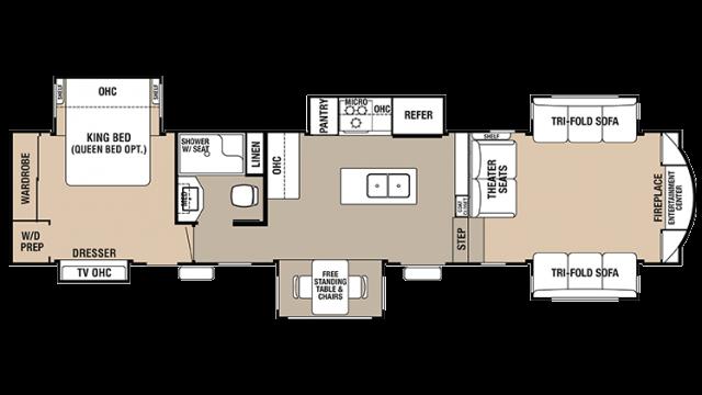 2018 Cedar Creek 38FLX Floor Plan