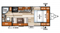 2018 Salem Cruise Lite 171RBXL Floor Plan