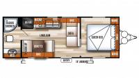 2018 Salem Cruise Lite 241QBXL Floor Plan