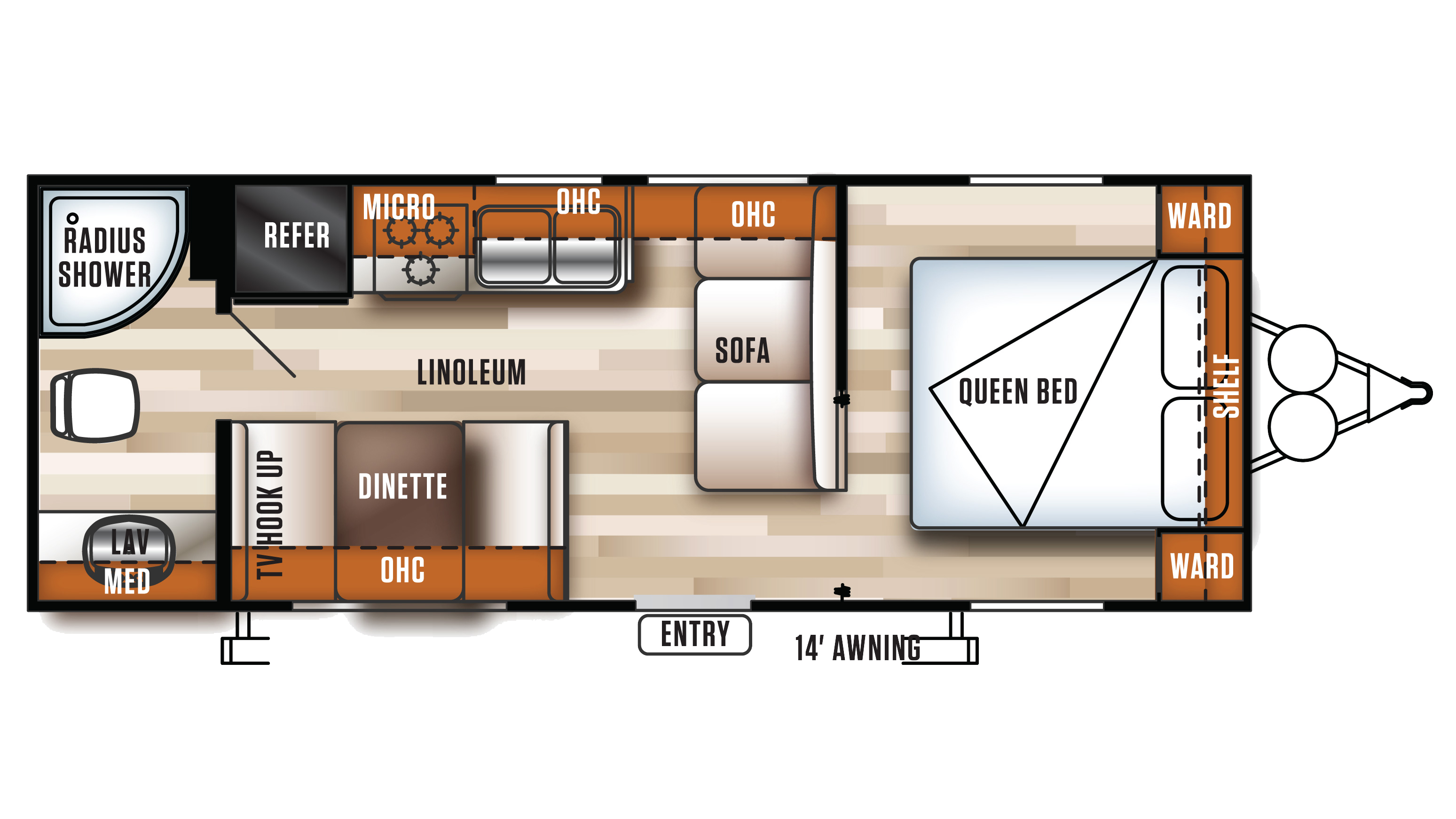 Wildcat Travel Trailer And Fifth Wheel Floorplans By
