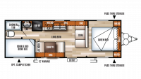 2018 Salem Cruise Lite 261BHXL Floor Plan