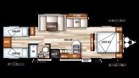 2018 Salem Cruise Lite 282QBXL Floor Plan