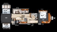 2019 Salem Villa Classic 402QBQ Floor Plan