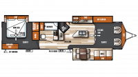 2019 Salem Villa Estate 393FLT Floor Plan