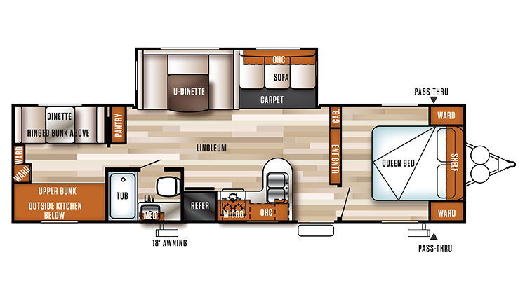 Travel Trailer Floor Plans With Rear Slide Outs
