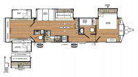 2018 Sandpiper Destination 402QB Floor Plan
