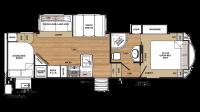 2019 Sandpiper HT 3275DBOK Floor Plan