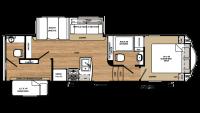 2019 Sandpiper HT 3350BH Floor Plan